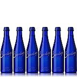 Saratoga Sparkling Spring Water, 12oz Cobalt Blue Glass Bottle (Pack of 6, Total of 72 Fl Oz)