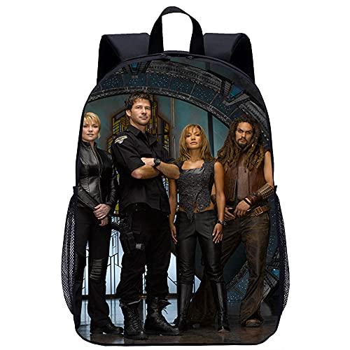 LLLTONG Mochila de moda Stargate Atlantis Mochila impresa en 3D Mochila de moda unisex para adolescentes (45x30x15cm) Mochila de viaje de ocio