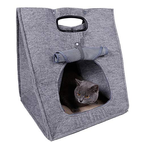 Shhjjpy huisdier nest warm vilt kat nest kennel opvouwbaar gemakkelijk te reinigen kat tent lente zomer herfst winter