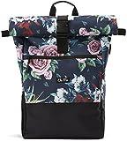 Ela Mo's Rucksack Damen | Schön & Durchdacht | für Uni Reisen Freizeit Job | mit Laptopfach und Anti Diebstahl Tasche | Blumen