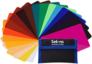 Selens - 20 Piezas Gel Filtro Iluminación Universal para Flash Speedlite Cámara 9.5 x 6.5 cm Lámina de plástico de iluminación de corrección de Color Transparente