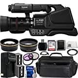 Panasonic HC-MDH3 AVCHD Camcorder with LCD Touchscreen & LED Light Essential Bundle: Includes – SanDisk Ultra 32GB Memory Card, 1x Replacement Battery, 0.43x Wide Angle Lens, & More