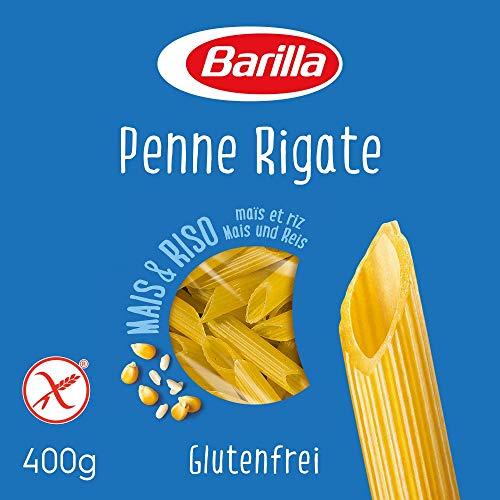 Barilla Pasta Penne Rigate Glutenfrei aus Reis und Mais, 14er Pack (14 x 400g)