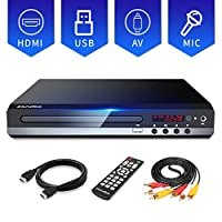 Sandoo DVD Player for TV, Region Free DVD Player for TV,Multi-Formats DVDs Supported, HDMI and AV Cable Included, USB/MIC Input for TV, Upgraded Remote, NOT Blu-ray DVD Player, Model MP2206