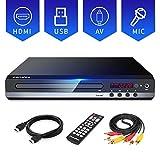 Sandoo DVDプレーヤー 1080P DVD/CD再生専用モデル HDMI端子搭載 CPRM対応、録画した番組や地上デジタル放送を再生する、USB、Mic対応、AV / HDMIケーブルが付属し、テレビに接続できます、リモコン、日本語説明書付き 【メーカー18ヶ月保証】MP2206