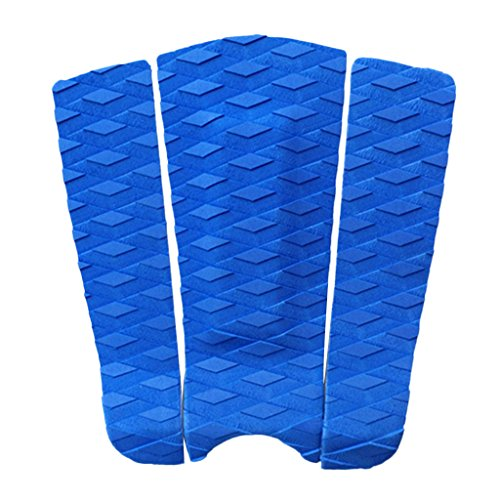 FLAMEER 3 Piezas Premium EVA Diamond Patterned Traction Pad Surfboard Surf Sup Tail Pad - Azul