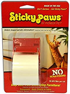 Pioneer Pet Sticky Paws on a Roll Cat Deterrent, White, 10m Per Roll