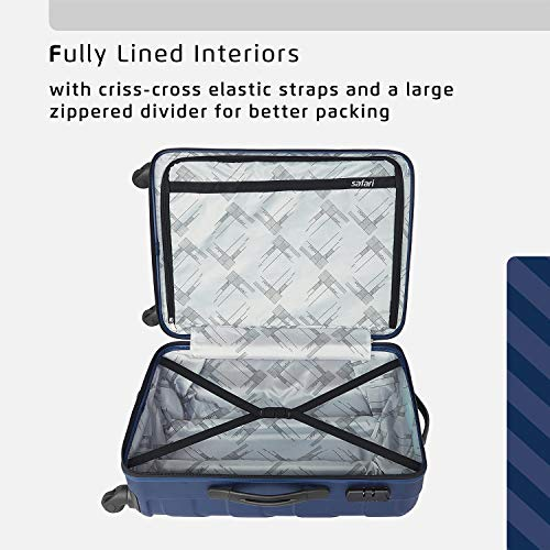 Safari Ray Polycarbonate 65 cms Midnight Blue Hardsided Check-in Luggage (RAY 67 4W MIDNIGHT BLUE)