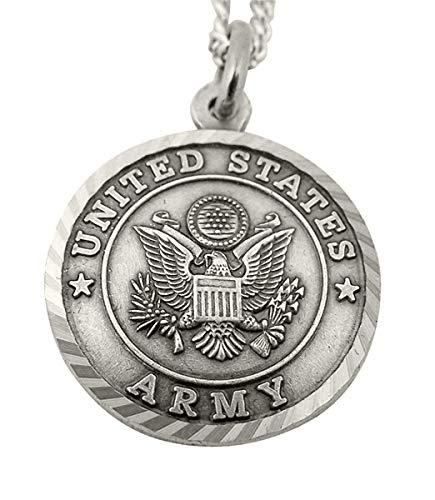 Níquel plata medalla Militar de los Estados Unidos con San Miguel Back, 1Inch