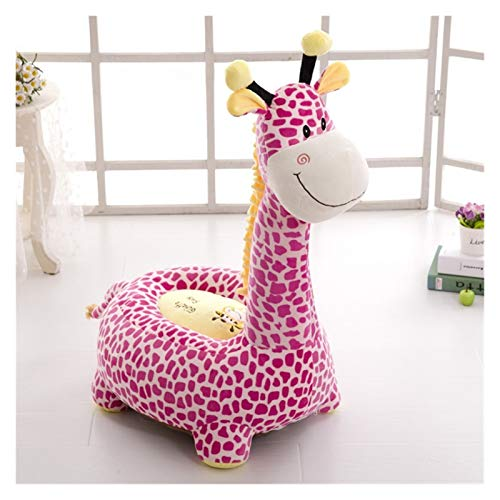 JSJJATQ Peluche Dibujos Animados niños Asientos sofá cómodo PP algodón Animal Jirafa pequeño tamaño Grande bebé Silla portátil Regalos para niños (Color : Pink2, Height : 75cm)