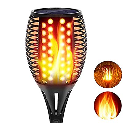 Sunenvoy Solar Torch Lights Upgraded, Waterproof Flickering Flame Solar Torches Dancing Flames Landscape Decoration Lighting Dusk to Dawn Outdoor Security Solar Light for Garden Patio