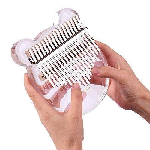 Kalimba 17-Key Thumb Piano Transparent Acrylic Material with Carry Bag