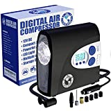 P.I. Auto Store - Premium 12V DC Tire Air Compressor Pump, Portable Digital Auto Tire Inflator