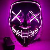 URMAGIC Halloween Maske LED Light EL Wire Cosplay Maske Purge Mask für Festival Cosplay Halloween...
