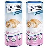 Tigerino Deodorizer, Baby Powder - 2 X 700g Powdery Floral Fragrance With Vanilla, Jasmin And Violet...