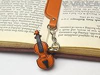 バイオリンレザーチャームBookmarker VANCAハンドメイドの日本