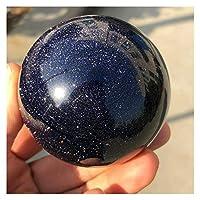 50mm新天然青砂の石水晶水晶ボール球癒し