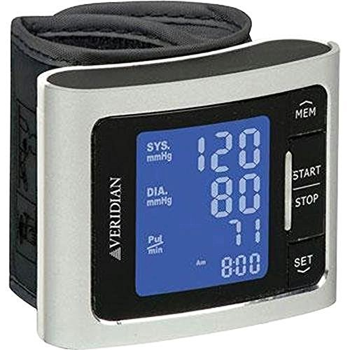 Veridian Healthcare Metallic Style Wrist Blood Pressure Monitor, Silver