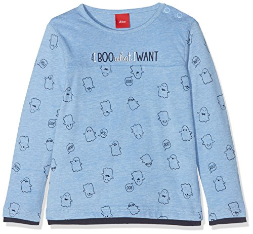 s.Oliver s.Oliver Baby-Jungen 65.808.31.8101 Langarmshirt, Blau (Light Blue AOP 53a6), 86