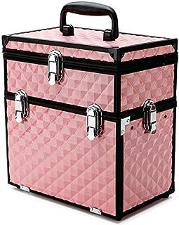 Effleur Premium Portable Cosmetics Makeup Case, Pink