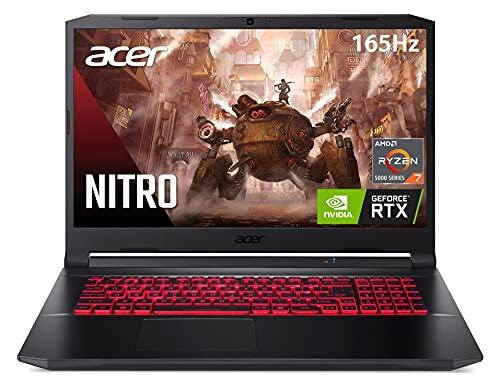 Acer Nitro 5 AN517-41-R2KQ Gaming Laptop, AMD Ryzen 7 5800H Octa-Core Processor | NVIDIA GeForce RTX 3070 Laptop GPU | 17.3″ QHD 165Hz IPS 3ms Display | 16GB DDR4 | 1TB NVMe SSD