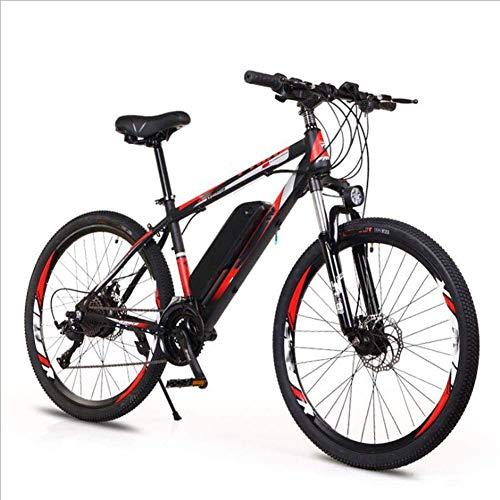 AYHa Adulto Off-Road bicicleta eléctrica, 250W Motor 26 '' de bicicleta eléctrica de montaña con extraíble 36V 8Ah / 10Ah de iones de litio 21/27 de velocidad variable doble freno de disco Unisexe,az