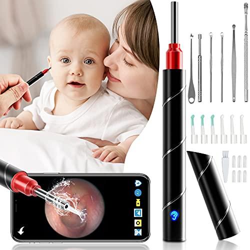 Ohrenschmalz Entferner Otoskop, ZumYu WiFi Wasserdicht Ohrreiniger Für Erwachsene 3.5mm Linse HD1080P Mit LED-Lichter Entfernen Mit Kamera Endoskop Baby Erwachsene Für iPhone/iPad, iOS, Android