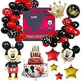 FANDE Palloncini Party Minnie, Decorazioni per Feste di Compleanno a Tema Mickey, Topolino Decorazioni a Tema per Il Primo Compleanno Palloncini per Compleanno, Festa, Baby Shower