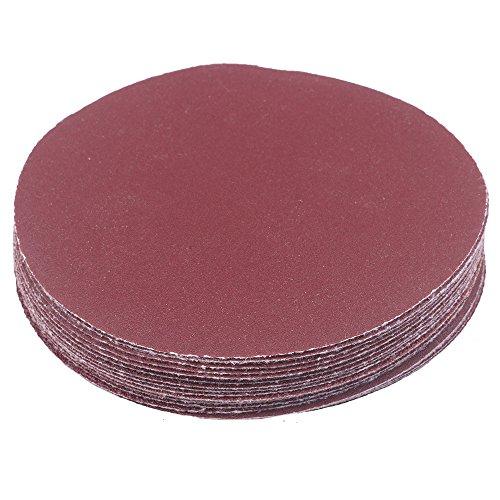 20Stück 60/80/120/180# 115mm Dia Rund Nassschleifpapier Körnung Disc Schleifpapier Sand Tabelle Pads