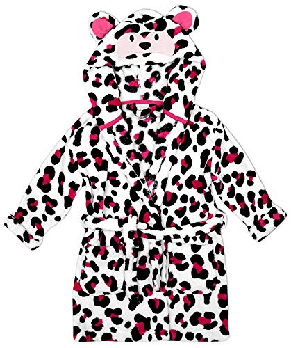 Mädchen Affe Gesicht Kapuze Fleece Bademantel Mit kapuze Bademantel größen von 2 bis 11 Jahre - Weiß, 110-116, Weiß