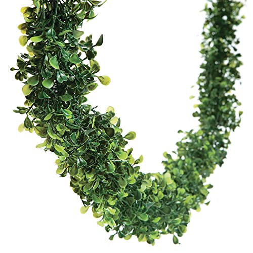 Fun Express - Boxwood Garland 12' for Wedding - Home Decor - Floral - Garlands & Swags - Wedding - 1 Piece