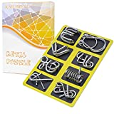 KAILIMENG Metal Puzzle, Brain Teaser Metal Wire Puzzle for Adults and Kids - Mind Game 3D IQ Jigsaw, Set of 8