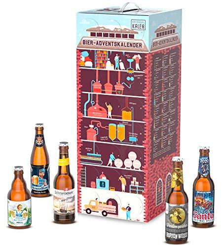 Kalea Bier-Adventskalender 2020   Edition Superbrauerei   24 deutsche Bier-Spezialitäten   24 x 0,33 l Flaschen