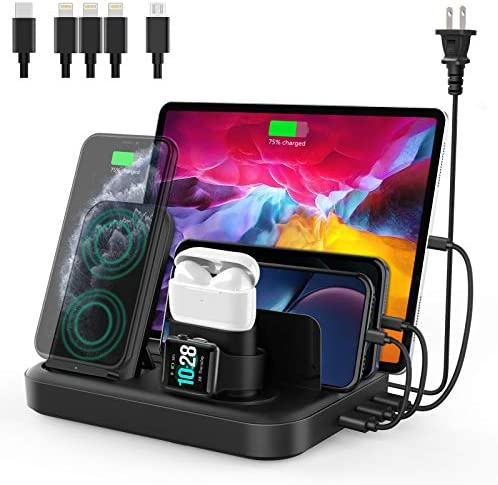 seenda Wireless Charging Station for Multiple Devices 6 in 1 Charging Dock Built in AC Adapter product image