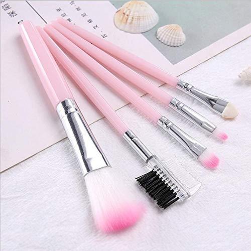 LinZX Set 5 PCS Brosse, Maquillage Oeil Brillant de Fard à Joues Correcteur pinceaux de Maquillage cosmétiques,01