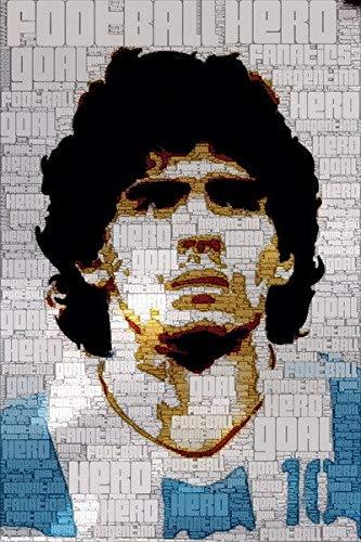 Impresión en lienzo sin marco Diego Maradona Argentina