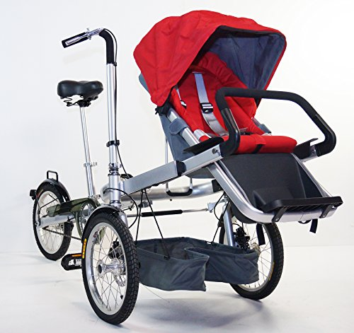 STROLLER BIKE. New 3 Wheels Folding Stroller Bicycle Mother Baby TAGA Style Bike, Green Color