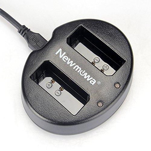 Newmowa Doppio Caricatore USB per Canon LP-E10 e Canon EOS Rebel T3, T5, T6, T7, Kiss X50, Kiss X70, EOS 1100D, EOS 1200D, EOS 1300D, EOS 2000D EOS 40