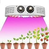 iHarbort 1100W LED Cultivo Interior Lámpara de Plantas Espectro Completo COB LED Lámpara de crecimiento con perilla de control VEG&BLOOM para plantas Interior Hidropónicas Invernadero Veg y Flores