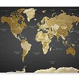 murando Papier peint intissé 400x280 cm Décoration Murale XXL Poster Tableaux Muraux Tapisserie Photo Trompe l'oeil XXL Carte du Monde Continente k-A-0092-a-a