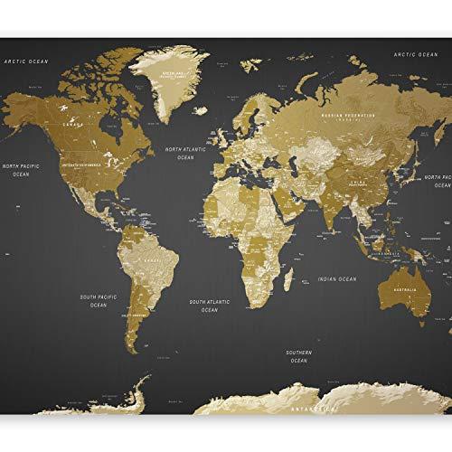 murando Papier peint intissé 300x210 cm Décoration Murale XXL Poster Tableaux Muraux Tapisserie Photo Trompe l'oeil XXL Carte du Monde Continente k-A-0092-a-a