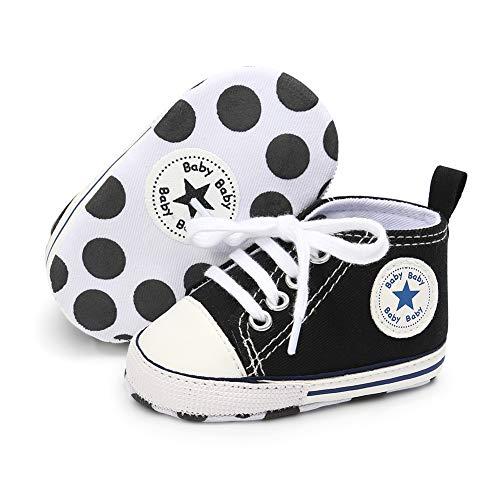 Babycute Baby-Schuhe für Neugeborene, Beige - A1-black - Größe: 0-6 Mois