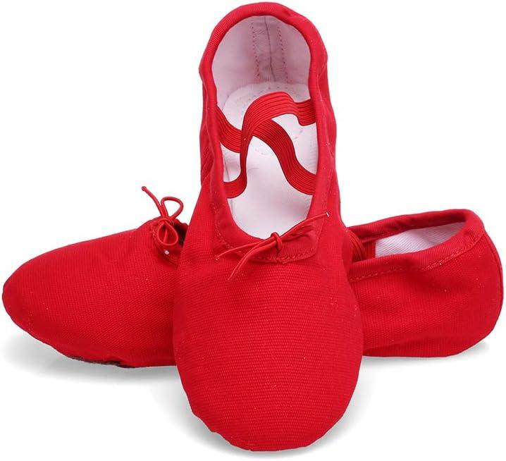 TRIWORIAE Ballettschuhe M/ädchen Damen Tanzschuhe Gymnastik Kinder//Erwachsener