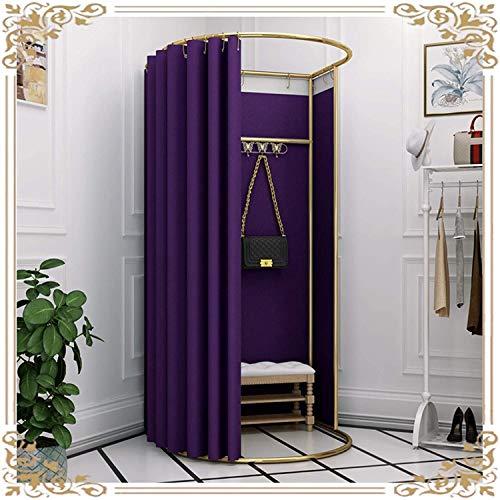 ZXCVB Sala de Accesorios móviles, vestidor Simple Partition Pantalla de Tiendas de campaña Sombreado Kit de Cortina para Mujer Tienda de Ropa, 10 Colores (Color: Marrón, Tamaño: 100x95x200cm)