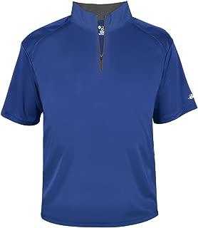 Royal Blue Adult Medium 1/4 Zip Wicking Pullover