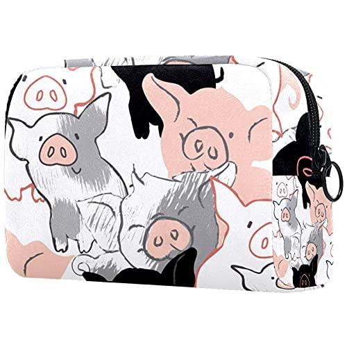 Neceser – Organizador grande de viaje de maquillaje cosmético para hombres y mujeres elefante saliendo de las paredes 18,5 x 7,5 x 13 cm