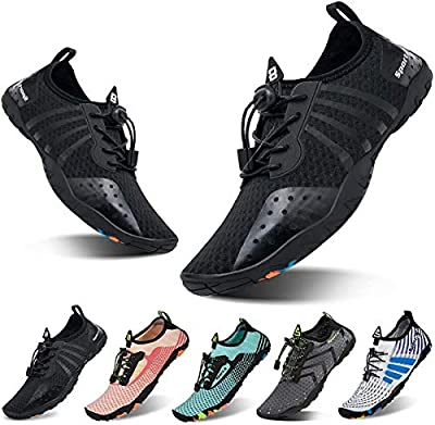 YALOX Water Shoes Mens Womens Beach Quick Dry Swim Barefoot Shoes Aqua Sock Outdoor Athletic Pool Shoes for Kayaking, Swimming, Yoga, Surfing, Fishing