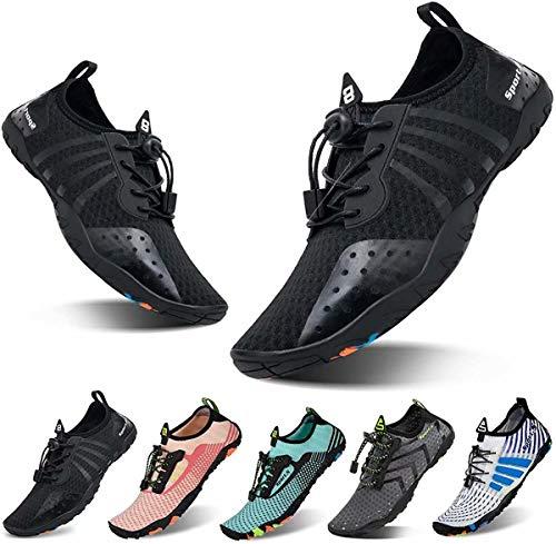 Zapatillas de agua YALOX para hombre, zapatillas para nadar para mujer, zapatillas sin calcetines para la playa, de secado rápido, para la piscina, nadar, yoga, surfing o ejercicio