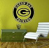 Green Bay Packers Vinyl Decal NFL Wall Sticker Emblem Football Team Logo Sport Home Interior Removable Decor