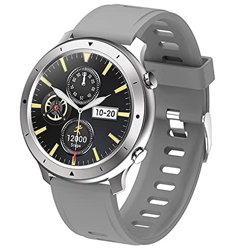 shjjyp Reloj Inteligente Redondo Marea Pulsera Actividad Smartwatch con Monitor De Pasos CaloríAs SueñO Y Ritmo CardíAco Reloj Inteligente Impermeable Ip68 Compartible con iOS Y Android